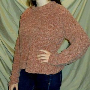 Mauve Pink Fuzzy Columbia Sweater